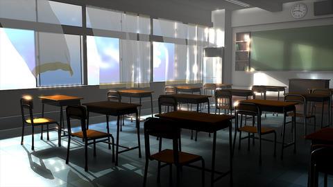 Classroom summer Animation