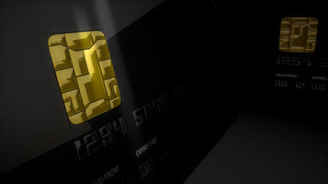 Credit card close-up Stock Video Footage