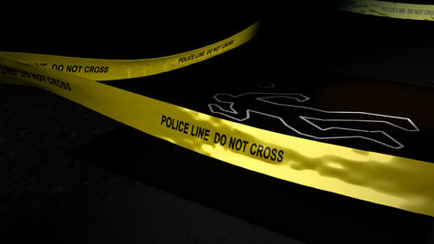 Crime Scene stock footage