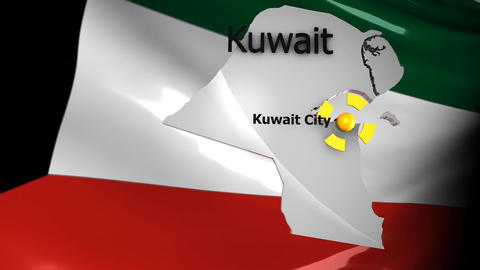 Crisis Map Kuwait stock footage