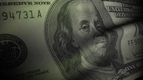 Dollar note flag Animation