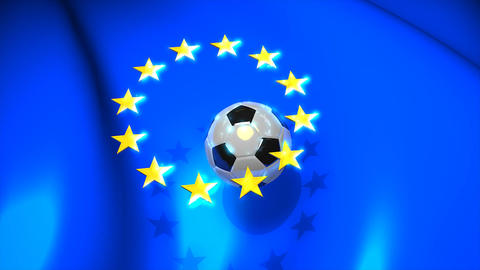Europa Football stock footage