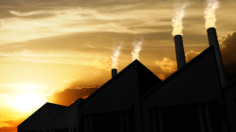 Factory Pollution stock footage