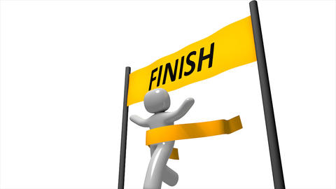 Finishing Line stock footage