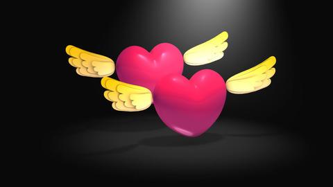 Flying heart Animation