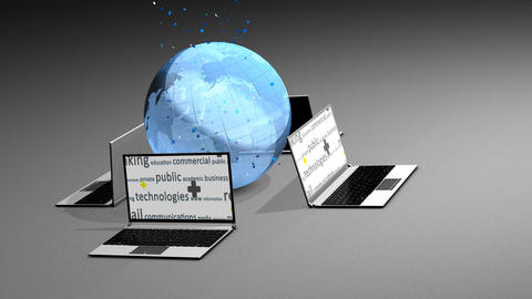 Internet World stock footage
