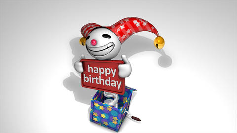 Jack in the box Happy birthday Animation