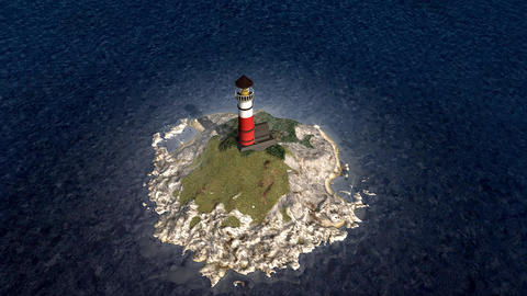 Lighthouse Island stock footage