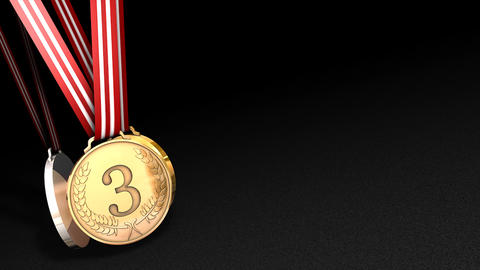 Sport Medals Animation, Matte Included stock footage
