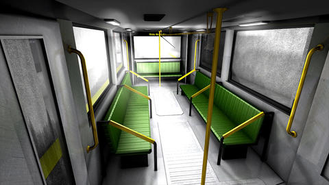Metro transit interior Animation