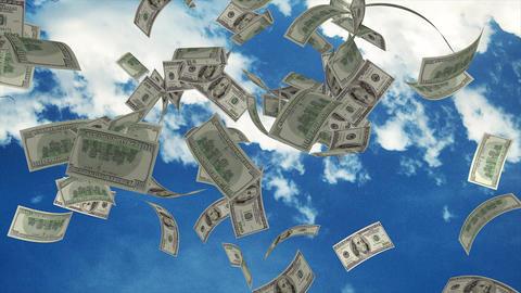Money fall from sky Animation