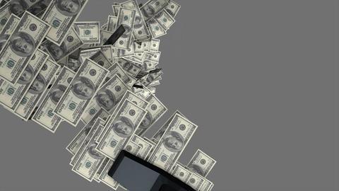 Money vacuum Animation