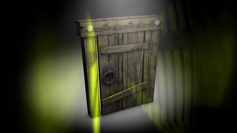 Mysterious Door stock footage