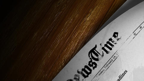 Newspaper headlines Animation