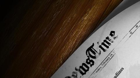 Newspaper headlines Animation