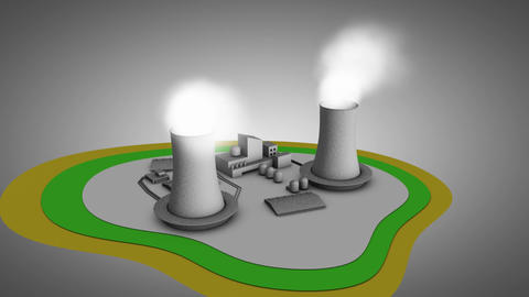 Artist impression 3d illustration of nuclear react Animation