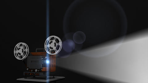 Old Film Projector stock footage