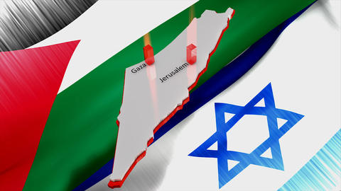 Palestine Israel Conflict stock footage