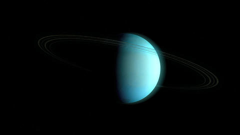 Planet Uranus Animation