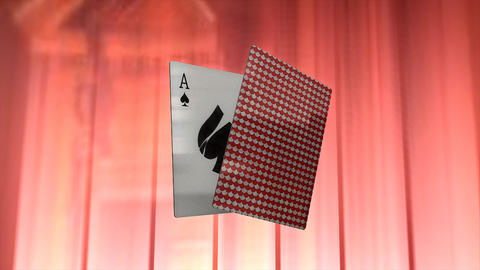 Playing Card stock footage