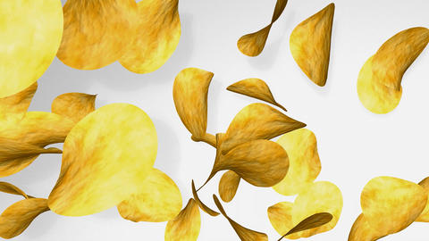 potato chips Animation