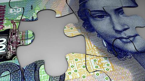 Puzzle Deutsche Mark Animation