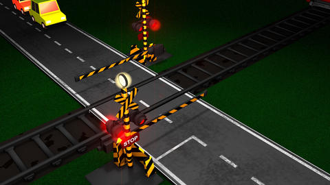 Railroad crossing Animation