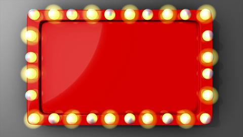 Retro blinking board Animation