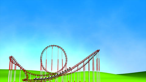 Roller coaster Animation