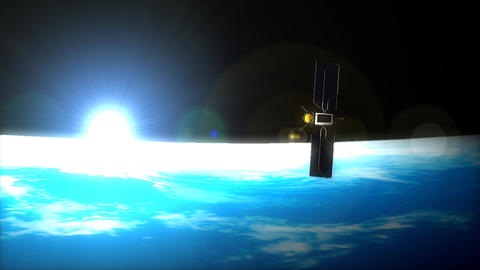 Satellite on the horizon Animation