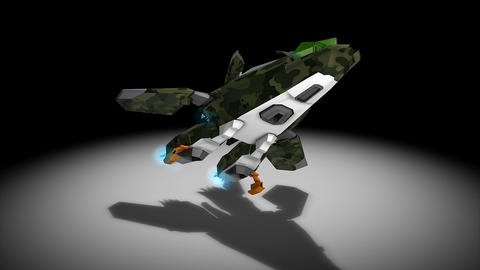 Space fighter Animation