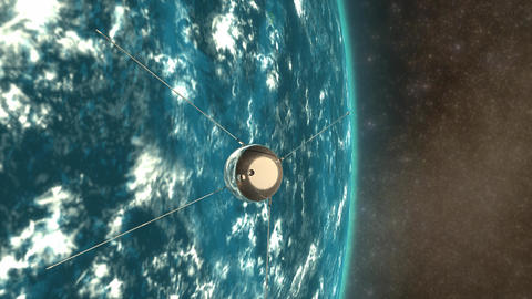 Sputnik 1 Animation
