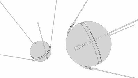Sputnik 1 stock footage