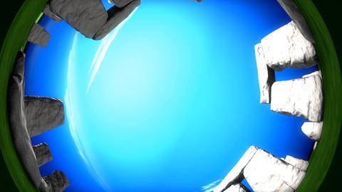 Stonehenge fisheye Animation