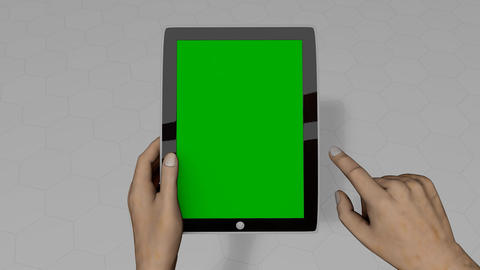 Tablet pc hand gesture Animation
