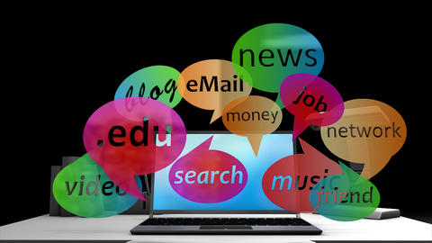 Internet Social Network stock footage