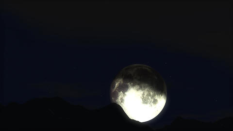Time lapse moon Stock Video Footage