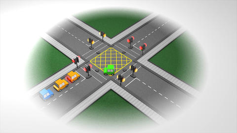 Traffic junction Animation