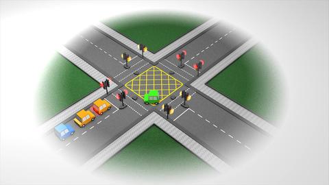 Traffic junction Animation