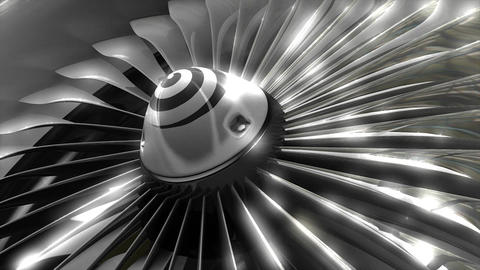 Turbine Engine stock footage