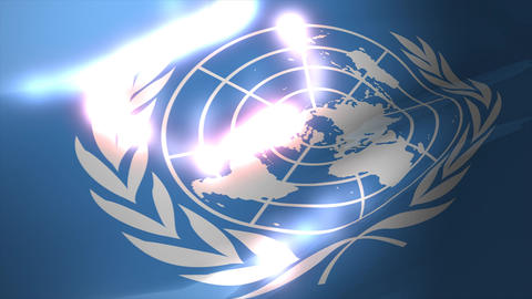 United Nation Flag stock footage