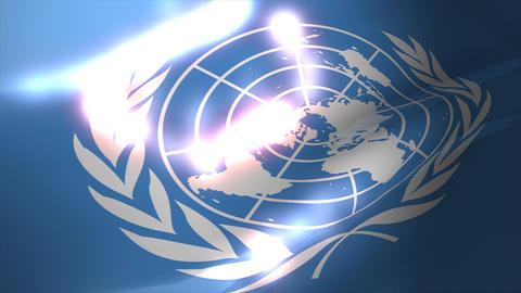 United Nation flag Animation