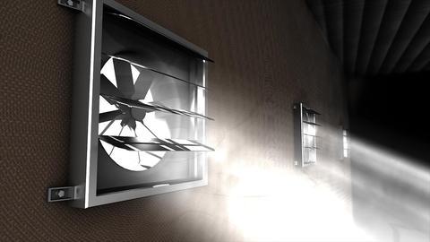 Ventilation fan Animation