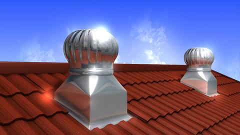 Wind driven ventilation turbine Animation