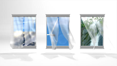 Windows To Green Energy stock footage