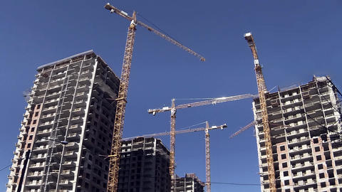 Building Site Skyscrapers Time Lapse stock footage