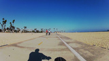 People Getting Exercise At The Beach Long Beach CA stock footage