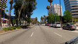 Driving East On Ocean Blvd. In Long Beach CA stock footage