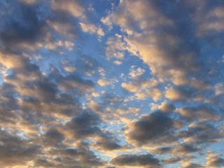 Cirrus clouds at sunset. Time Lapse. 320x240 Footage