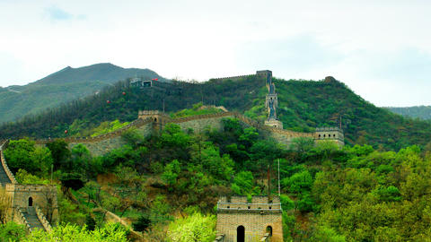 Great wall of China. Timelapse Footage